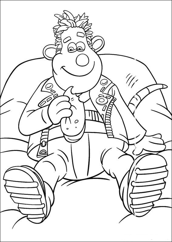 flushed away coloring pages - photo#9