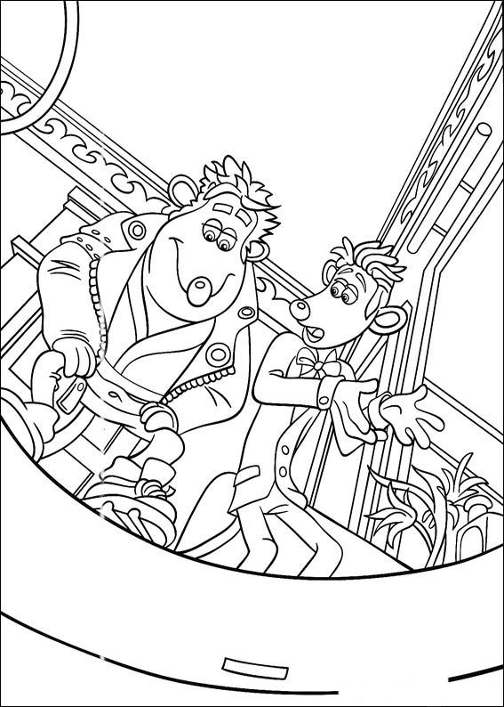 flushed away coloring pages - photo#14