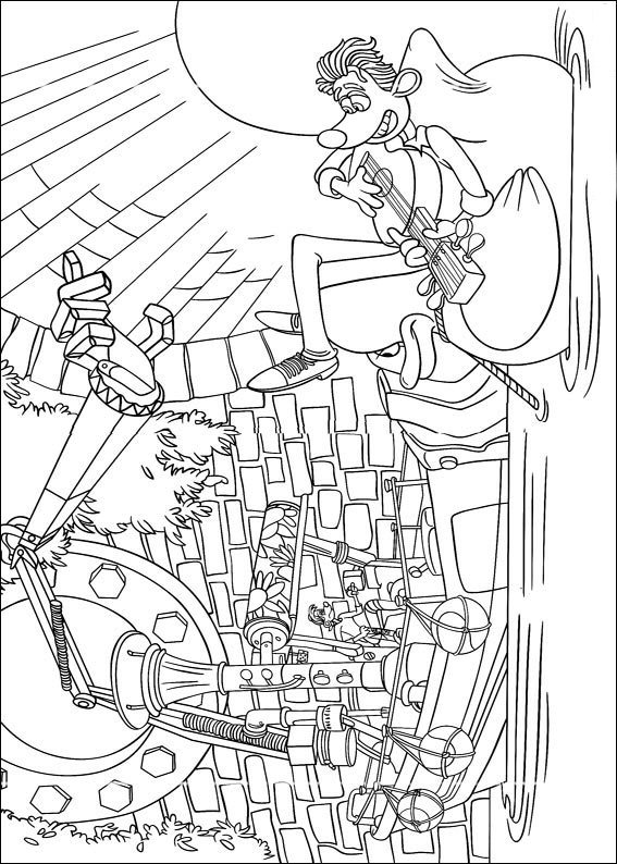 flushed away coloring pages - photo#8