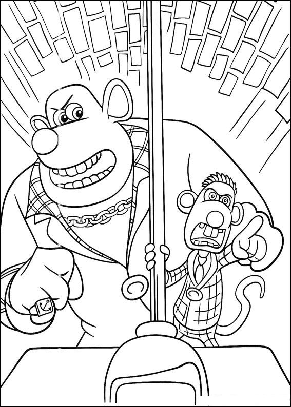 Kids-n-fun.com | 18 coloring pages of Flushed away