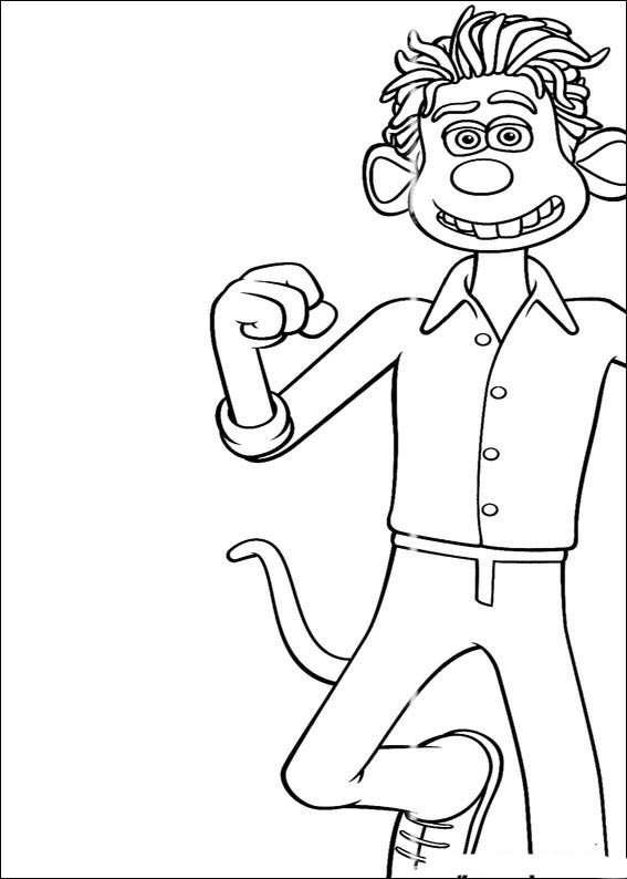 flushed away coloring pages - photo#10