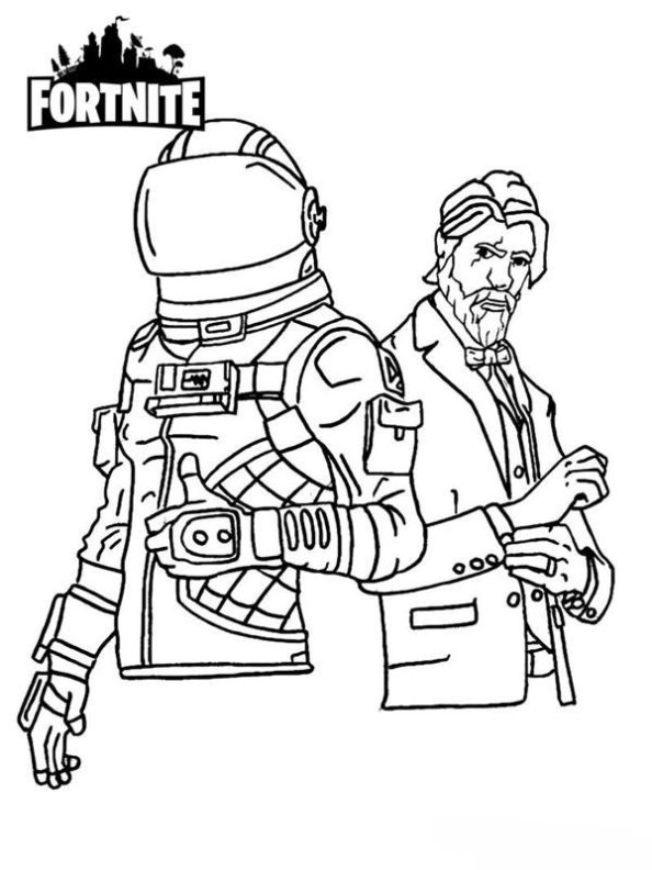 Kidsnfun 37 coloring pages of Fortnite