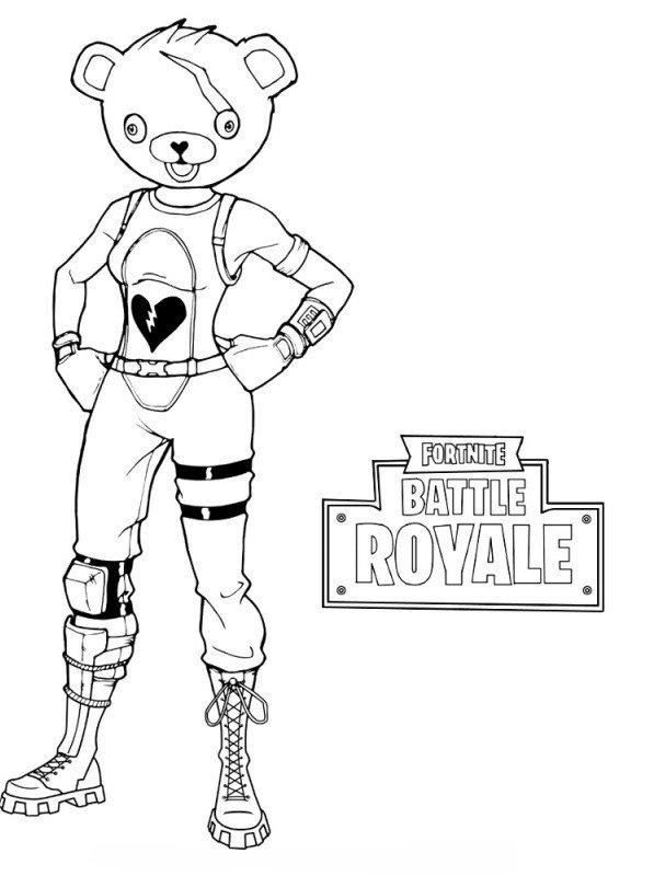 Kids N Fun Com Coloring Page Fortnite Panda