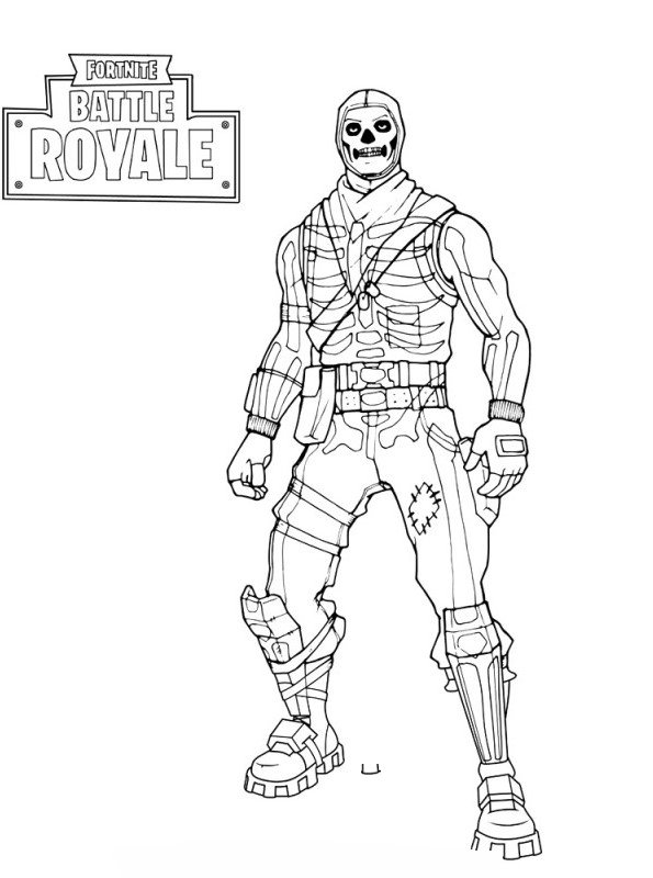 Kids N Fun Com Coloring Page Fortnite Skull Trooper