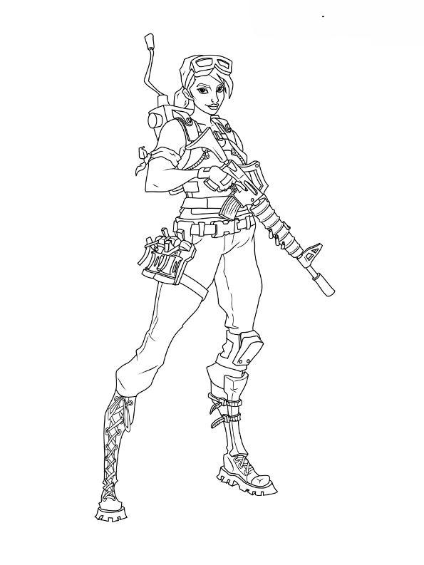 Kids N Fun Com Coloring Page Fortnite Soldier 2