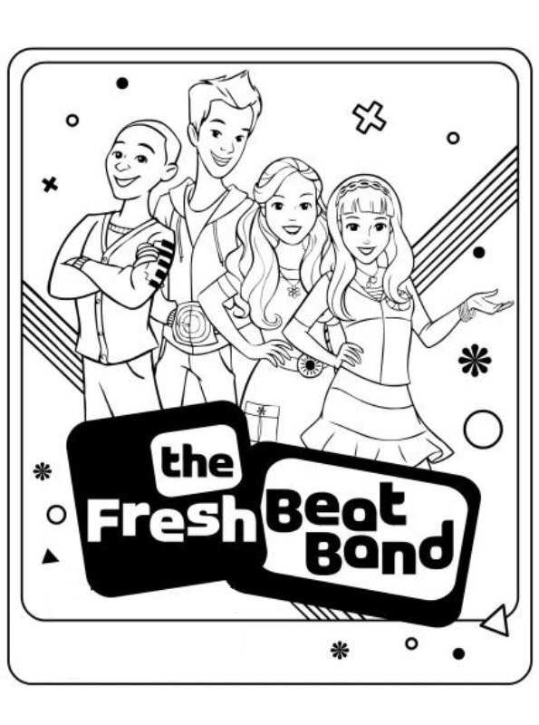 The Fresh Beat Band Chistmas Coloring Pages