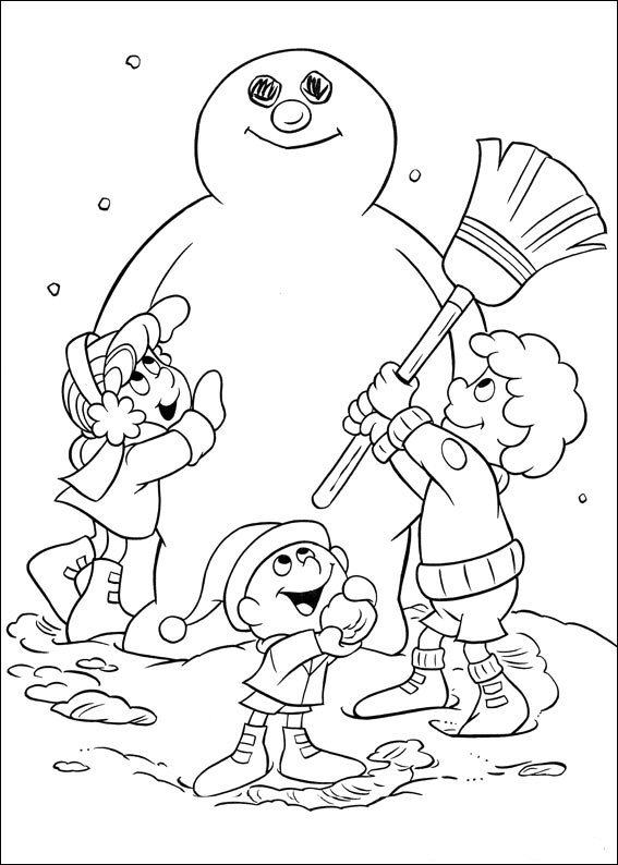 Kids N Fun Com 24 Coloring Pages Of Frosty The Snowman