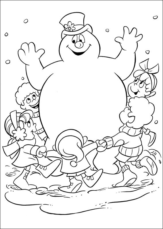 Kids n funcom 24 coloring pages of Frosty the Snowman