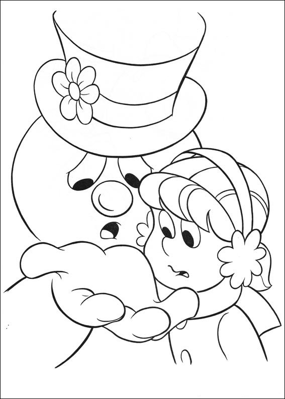 snowman coloring pages crayola back - photo#23