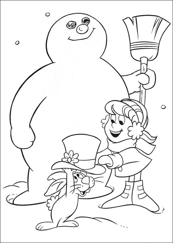 Kids n 24 coloring pages of frosty the snowman for Frosty the snowman coloring pages