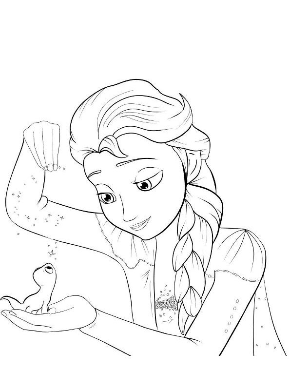 Kids-n-fun.com   Coloring page Frozen 2 Elsa Bruni
