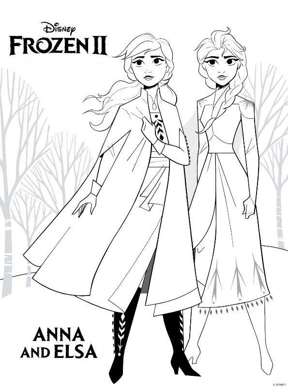 kids-n-fun | coloring page frozen 2 frozen 2 anna elsa