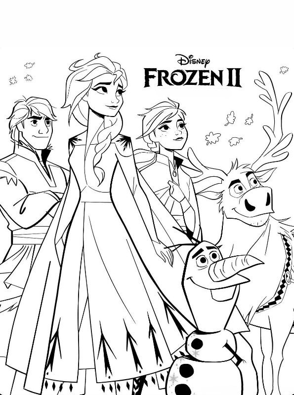 Kids N Fun Com Coloring Page Frozen 2 Frozen 2