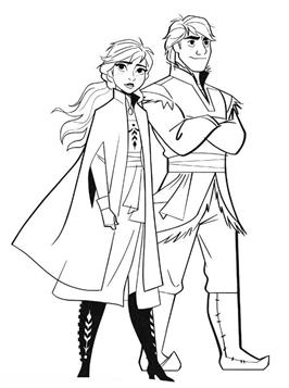Frozen 2 Free Printable Coloring Page Elsa and Bruni - Get ... | 357x266