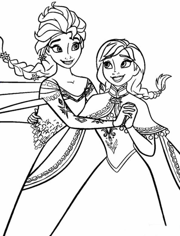 Kids N Fun Com Coloring Page Frozen Anna And Elsa Anna Elsa