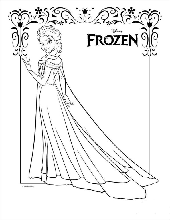 Kids N Fun Co Uk Coloring Page Frozen Anna And Elsa Elsa 2