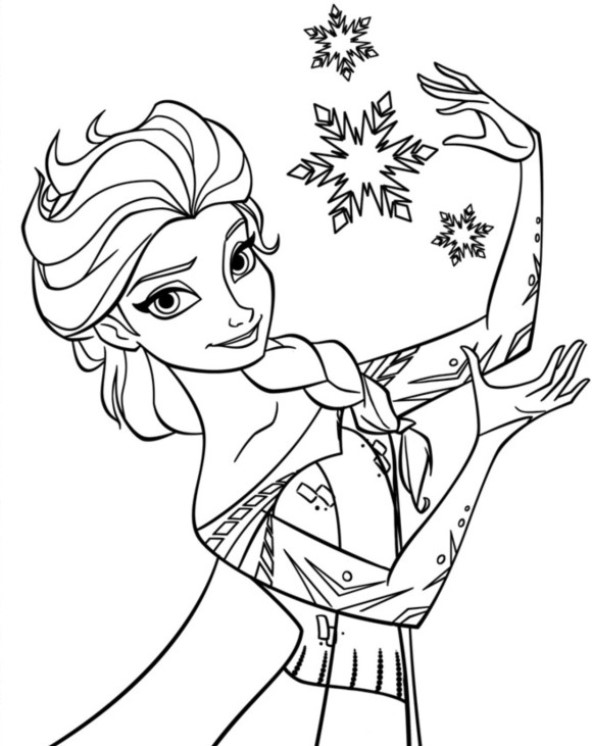 Zeer Kids-n-fun.com | 17 coloring pages of Frozen Anna and Elsa #UF36