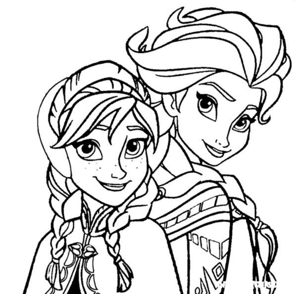 Kids N Fun Co Uk Coloring Page Frozen Anna And Elsa Elsa Anna Frozen