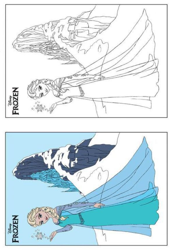 Kids N Fun Coloring Pages Frozen : Kids n fun coloring pages of frozen anna and elsa