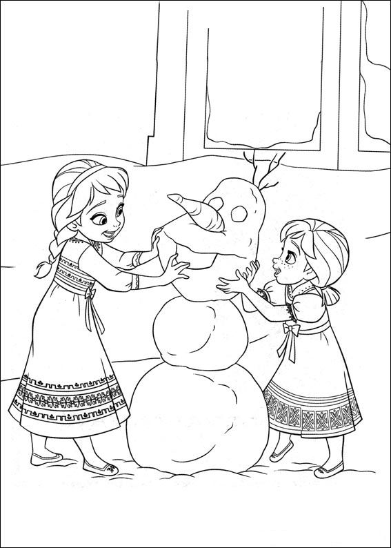 Frozen 35 Coloring Pages Of