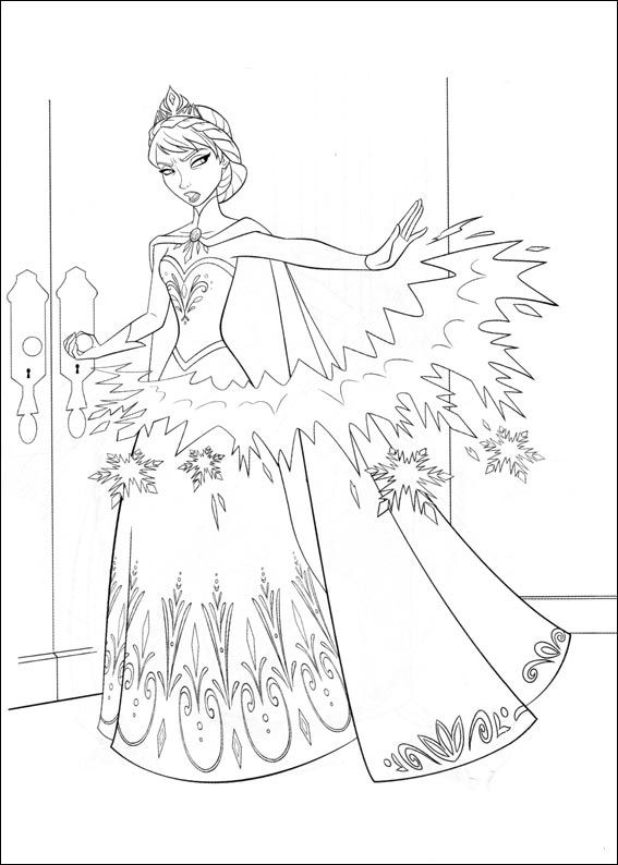 Kids n funcom 35 coloring pages of Frozen