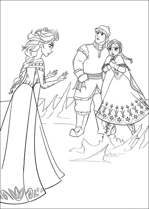 Kids N Fun Com 35 Coloring Pages Of Frozen