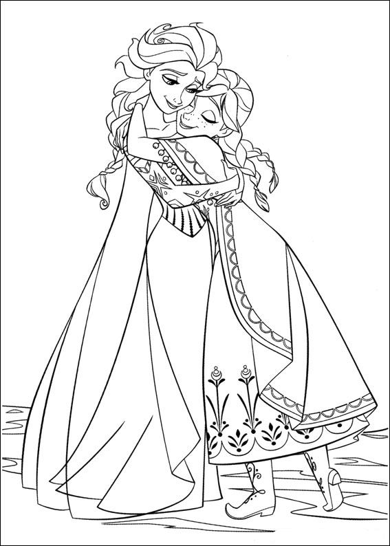 Kids N Fun Coloring Pages Frozen Of
