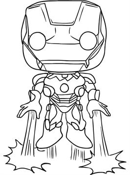 Kids N Fun Com 13 Coloring Pages Of Funko Pops Marvel