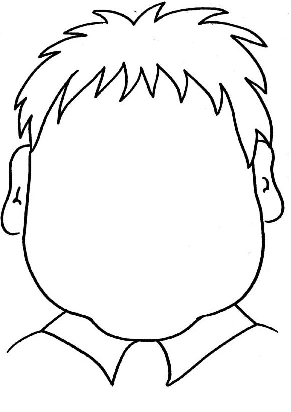 coloring pages childrens face - photo#9