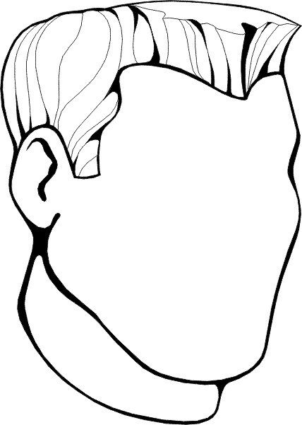 coloring book pages of childrens faces | Kids-n-fun.com | 19 coloring pages of Faces