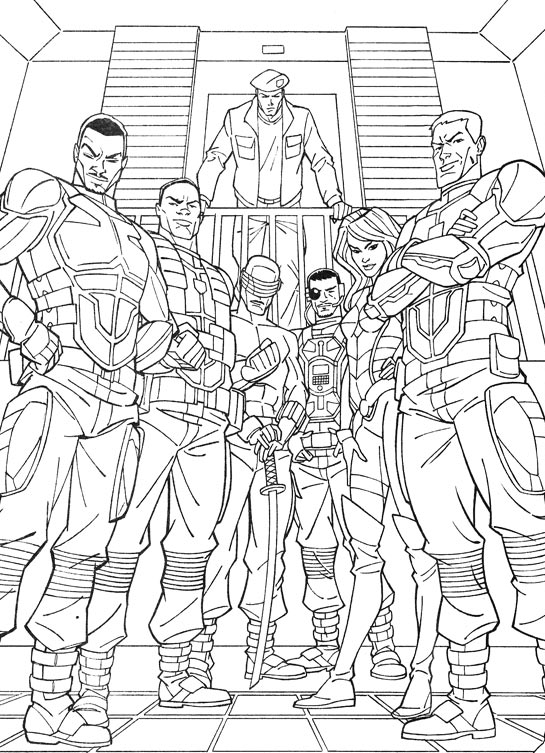 Kids N Fun Com 44 Coloring Pages Of G I Joe