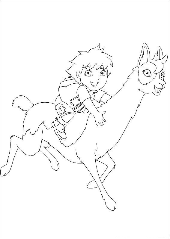 Kids-n-fun.com   41 coloring pages of Diego, Go Diego Go