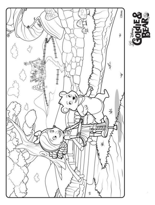 Kids n funcom 9 coloring pages of Goldie and Bear