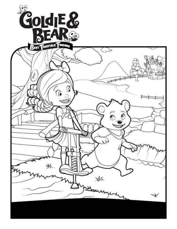 goldie and bear coloring pages Kids n fun.| 9 coloring pages of Goldie and Bear goldie and bear coloring pages