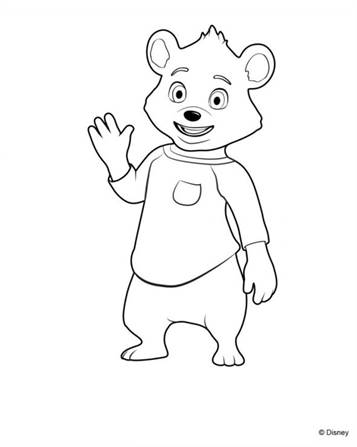 Kids N Fun Com 9 Coloring Pages Of Goldie And Bear