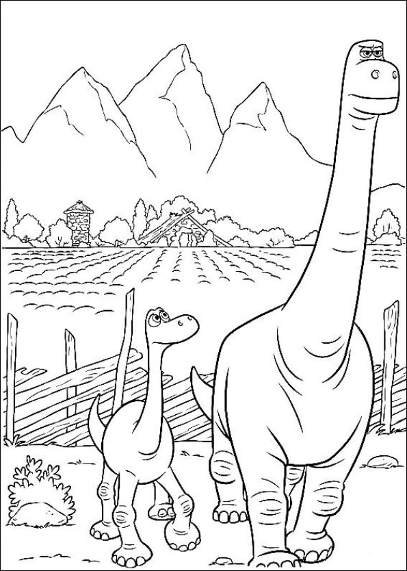 Kids-n-fun.com | 25 coloring pages of Good Dinosaur