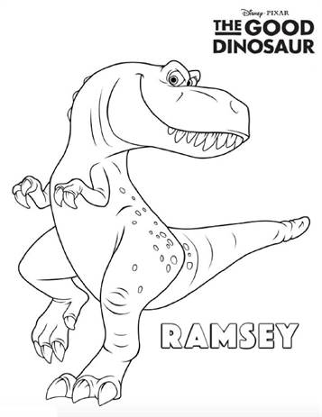The Good Dinosaur Coloring Page - Free The Good Dinosaur Coloring ... | 463x357