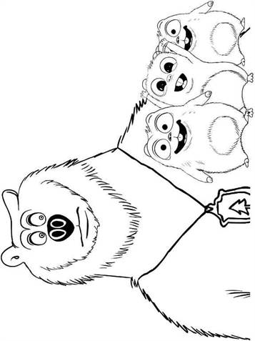 Kids N Fun Com 6 Coloring Pages Of Grizzy And The Lemmings