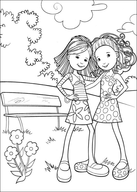 Kids-n-fun.co.uk | 65 coloring pages of Groovy Girls