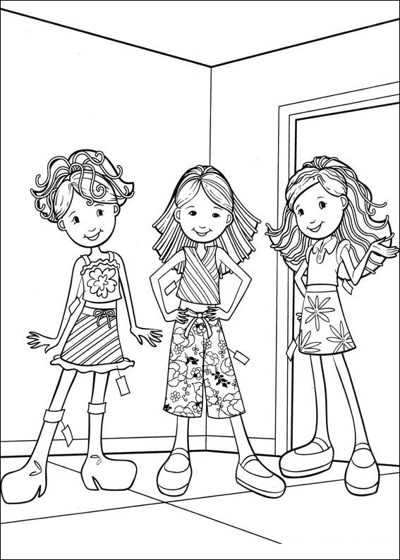 Kidsnfun 65 coloring pages of Groovy Girls