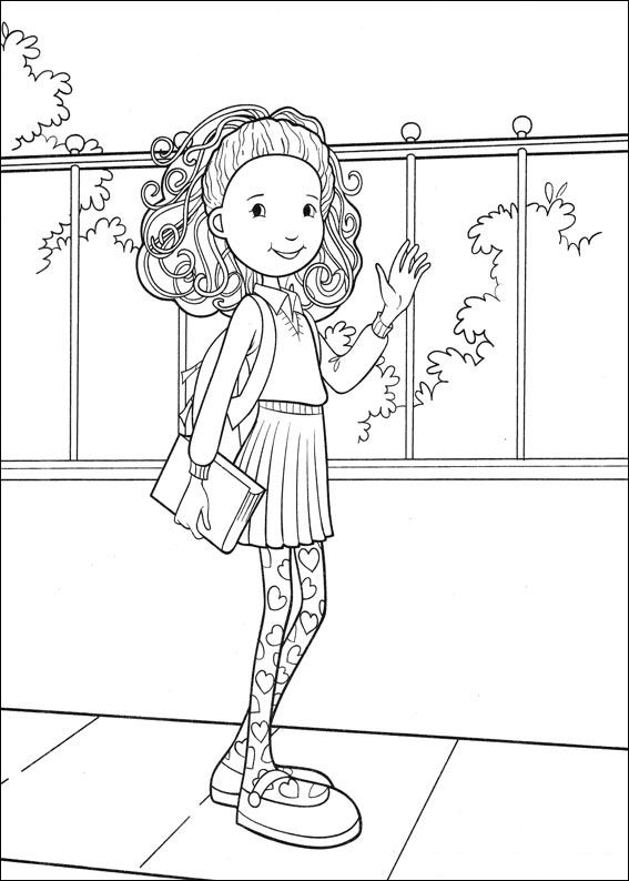 groovy girls coloring pages-#9