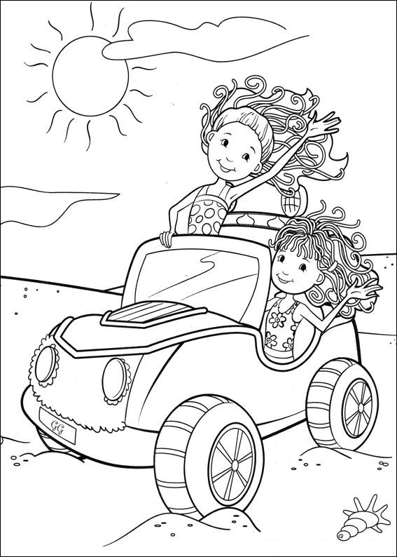 groovy girls coloring pages-#11