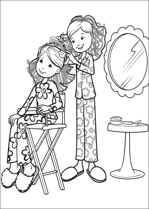 groovy girls coloring pages-#2