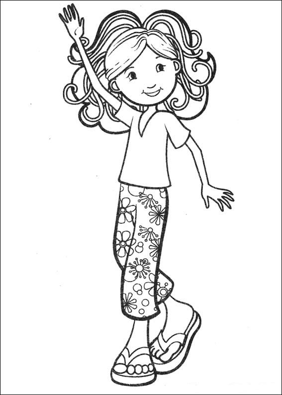 Kidsnfuncom  65 coloring pages of Groovy Girls