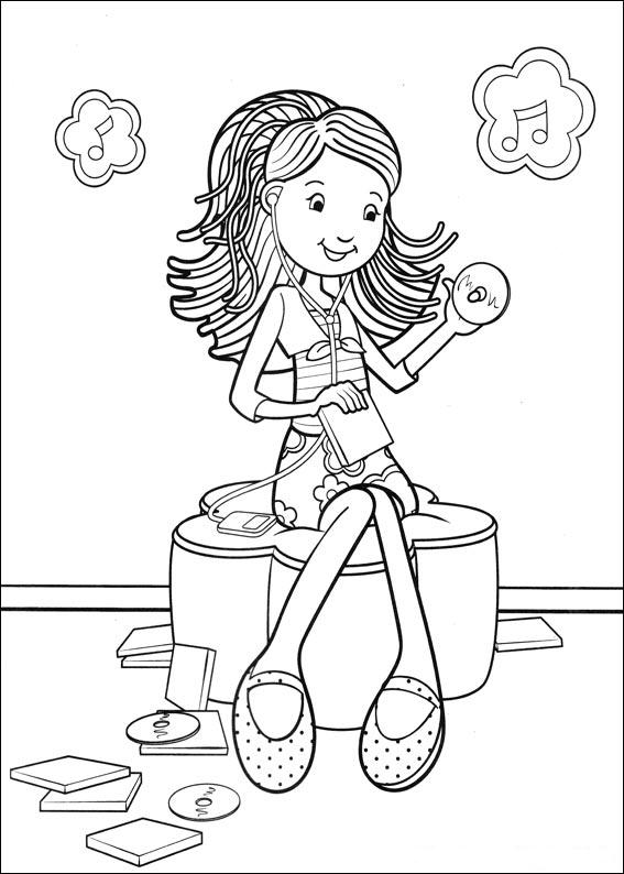groovy girls coloring pages-#6