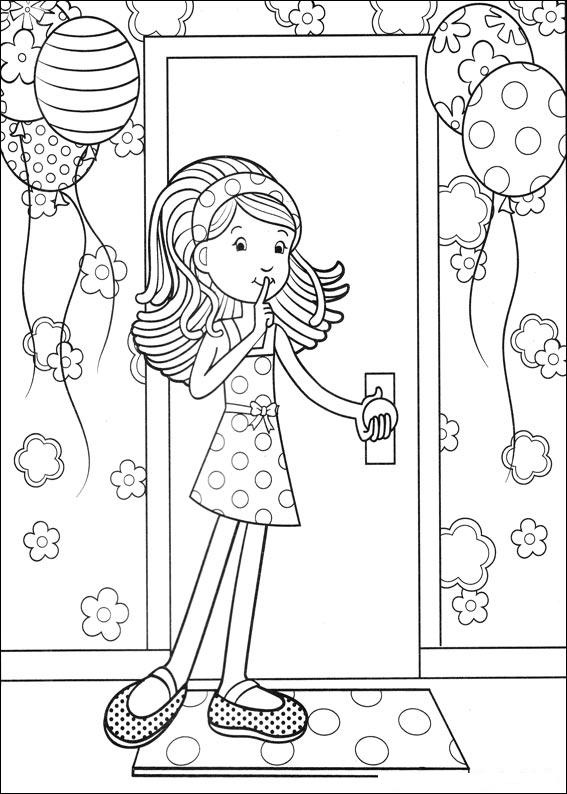 groovy girls coloring pages - photo#15