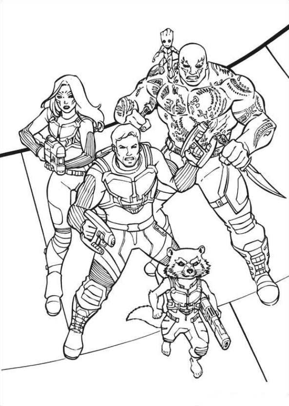 Kids n funcom 40 coloring pages of Guardians of the Galaxy