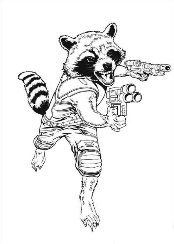 Kleurplaat 25 Kids N Fun Com 40 Coloring Pages Of Guardians Of The Galaxy