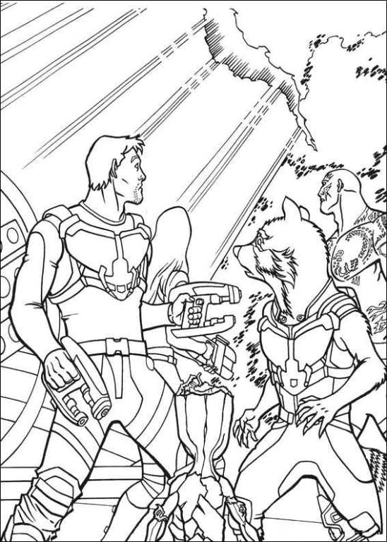Kids N Fun Com 40 Coloring Pages Of Guardians Of The Galaxy