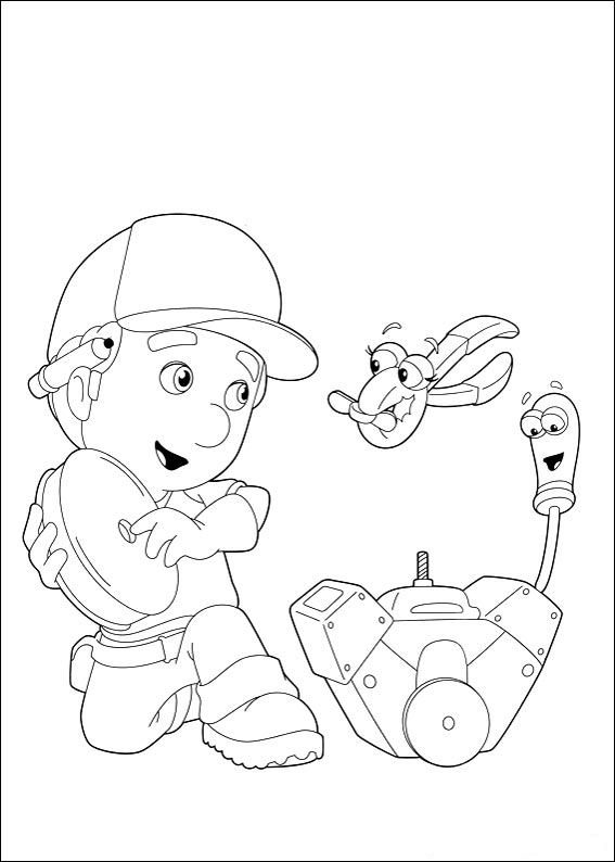 handy manny - Handy Manny Colouring Pages